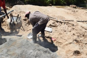 The Water Project: Nduumoni Community A -  Mixing Cement