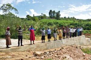 The Water Project: Nduumoni Community -  Shg Members Celebrate Dam