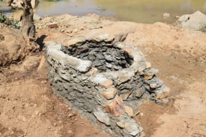 The Water Project: Nduumoni Community A -  Building The Well Walls
