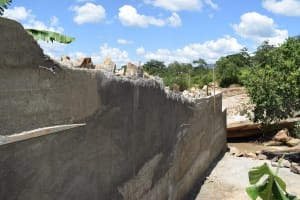 The Water Project: Nduumoni Community A -  Cement Work On Dam Walls