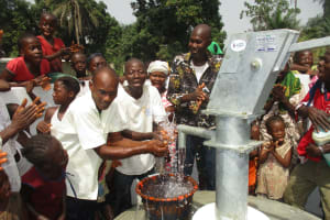 The Water Project: Lungi, Rosint, #26 Old Town Road -  Community Men Celebrating