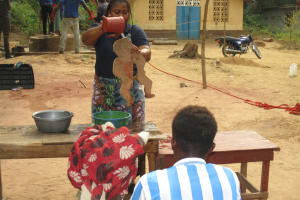 The Water Project: Lungi, Rosint, #26 Old Town Road -  Hygiene Facilitator Teaching About Diarrhea