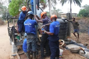 The Water Project: Lungi, Madina, St. Mary's Junior Secondary School -  Drilling