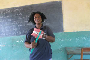 The Water Project: Lungi, Madina, St. Mary's Junior Secondary School -  Hygiene Facilitator Teaching How To Take Care Of The Teeth