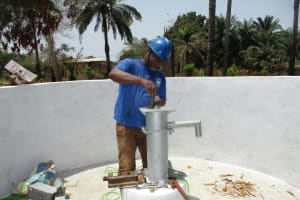 The Water Project: Lungi, Madina, St. Mary's Junior Secondary School -  Pump Installation