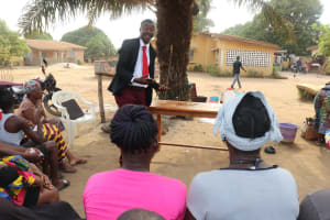 The Water Project: Lungi, Thomossoh, #24 Thullah Street -  Ward Councilor Explaining What He Learned From The Hygiene Training