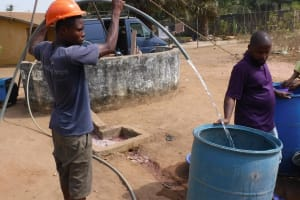 The Water Project: Lungi, Thomossoh, #24 Thullah Street -  Yield Test