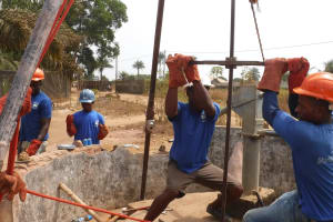 The Water Project: Lungi, Thomossoh, #24 Thullah Street -  Drilling