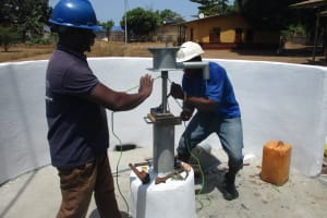 The Water Project: Lungi, Kingsway, 139 Kingsway Quarter -  Pump Installation