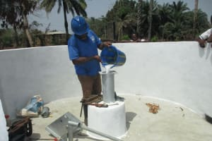 The Water Project: Lungi, Madina, St. Mary's Junior Secondary School -  Chlorination