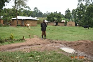 The Water Project: Mungakha Community, Asena Spring -  Philip Omukiti On His Homestead
