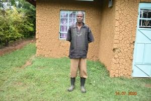 The Water Project: Mungakha Community, Asena Spring -  Philip Omukiti Outside His Home
