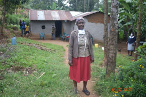 The Water Project: Bukhanga Community, Indangasi Spring -  Josephine Shamala Outside Her Home