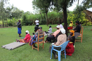 The Water Project: Mahira Community, Litinyi Spring -  Facilitator Janet Kayi Leads Training