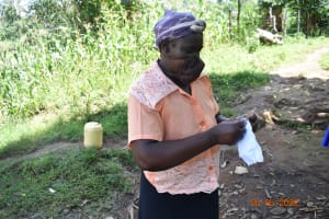 The Water Project: Bukhanga Community, Indangasi Spring -  Josephine Sews A Mask At Covid Training