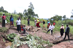The Water Project: Mahira Community, Litinyi Spring -  Onsite Training At Underway Spring