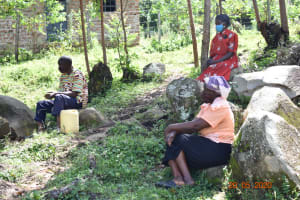 The Water Project: Bukhanga Community, Indangasi Spring -  Josephine Attends Covid Training