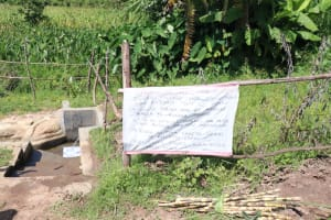 The Water Project: Mahira Community, Litinyi Spring -  Covid Prevention Reminder Chart