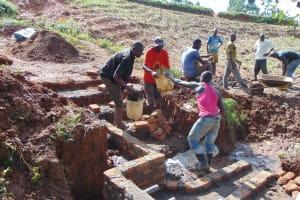 The Water Project: Ewamakhumbi Community, Mukungu Spring -  Stairs Construction