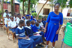 The Water Project: Mutiva Primary School -  Sanitation Teacher