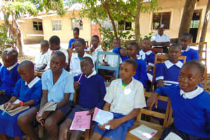 The Water Project: Mutiva Primary School -  Following The Training Keenly