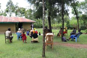 The Water Project: Mahira Community, Litinyi Spring -  Social Distancing At The Training