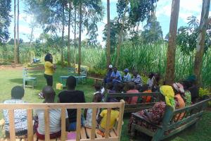 The Water Project: Ewamakhumbi Community, Mukungu Spring -  Georgina Leads Training