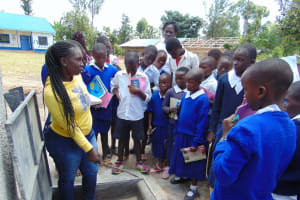 The Water Project: Mutiva Primary School -  Demonstration At The Tank