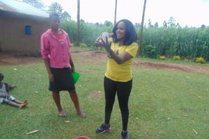 The Water Project: Ewamakhumbi Community, Mukungu Spring -  Handwashing Demonstration