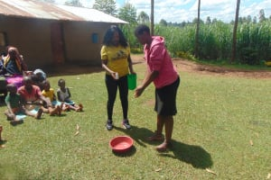 The Water Project: Ewamakhumbi Community, Mukungu Spring -  Handwashing