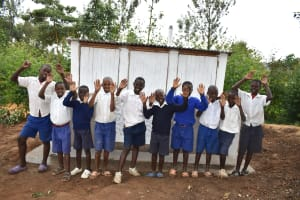 The Water Project: Mutiva Primary School -  Boys In Front Of Their Latrines