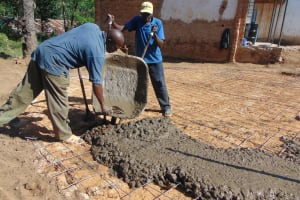 The Water Project: Mutiva Primary School -  Setting The Foundation Slab