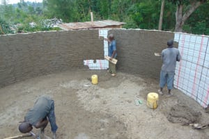 The Water Project: Mutiva Primary School -  Inside Plaster Of The Tank Walls