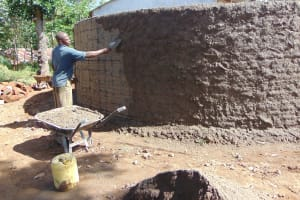 The Water Project: Mutiva Primary School -  Outside Plaster