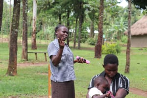 The Water Project: Mahira Community, Litinyi Spring -  Community Member Reacts To The Training