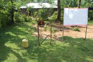 The Water Project: Bukhunyilu Community, Solomon Wangula Spring -  A Handwashing Station
