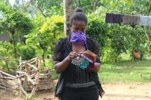 The Water Project: Bukhunyilu Community, Solomon Wangula Spring -  Cloth Mask Making