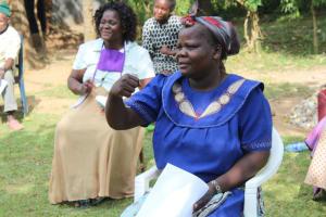 The Water Project: Bukhunyilu Community, Solomon Wangula Spring -  New Greetings