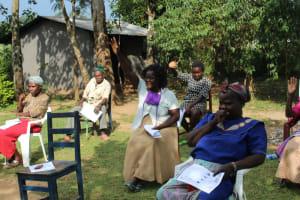 The Water Project: Bukhunyilu Community, Solomon Wangula Spring -  Participants At The Training