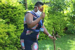 The Water Project: Bukhunyilu Community, Solomon Wangula Spring -  Setting Up A Handwashing Stand