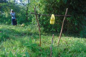 The Water Project: Shihingo Community, Mulambala Spring -  A Makeshift Handwashing Station