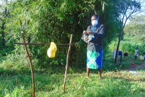 The Water Project: Shihingo Community, Mulambala Spring -  Mask Making