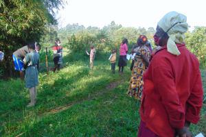 The Water Project: Shihingo Community, Mulambala Spring -  Ms Catherine Leading The Training