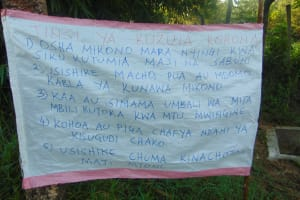 The Water Project: Shihingo Community, Mulambala Spring -  The Chart At The Water Point