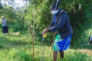 The Water Project: Shihingo Community, Mulambala Spring -  The Facilitator Leading The Handwashing Exercise