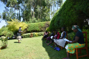 The Water Project: Ivulugulu Community, Ishangwela Spring -  Ongoing Covid Sensitization