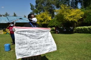 The Water Project: Ivulugulu Community, Ishangwela Spring -  Use Of Charts At The Training