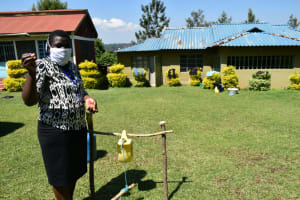 The Water Project: Ivulugulu Community, Ishangwela Spring -  Use Of Soap Integral In Handwashing