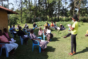 The Water Project: Musango Community, Dawi Spring -  Mask Making