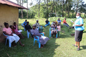 The Water Project: Musango Community, Dawi Spring -  Ms Karen Leading A Training Session At Dawi Spring